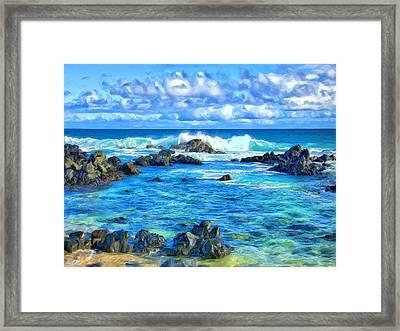 Tide Pool Near Hana Maui Framed Print
