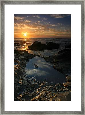 Tide Pool Reflection Framed Print