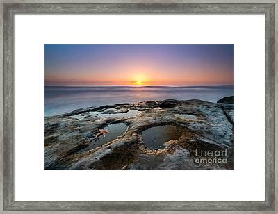 Tide Pool Sunset Framed Print by Michael Ver Sprill