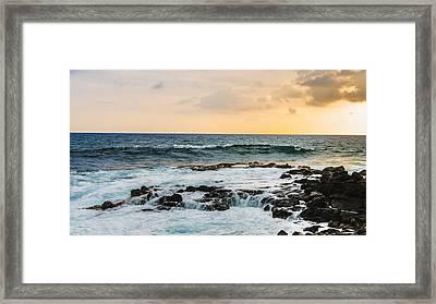 Tide Pool Sunsets In Hawaii Framed Print by Brandon McClintock