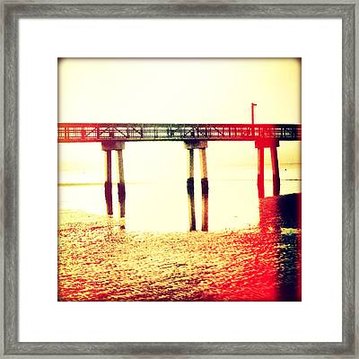 Tide Reflected Sunset Framed Print