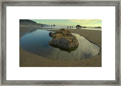 Framed Print featuring the photograph Tidepool Monolith by Arthur Fix