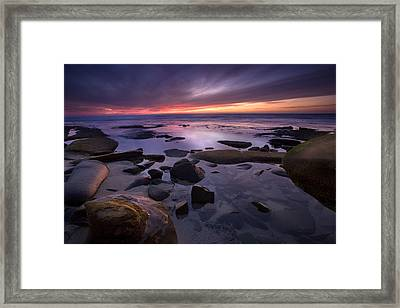 Tidepools Like Glass Framed Print by Peter Tellone