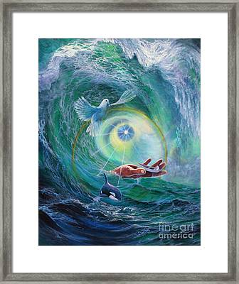 Framed Print featuring the painting Tides Of Change by Jeanette French