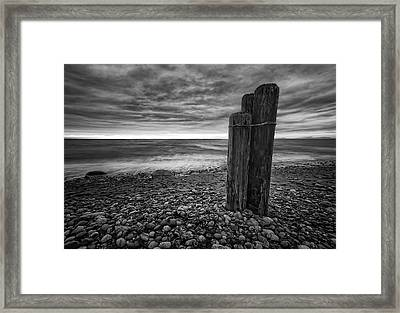 Tides Of West Beach Framed Print