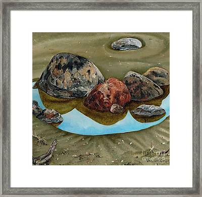 Tide's Out Framed Print by Val Stokes