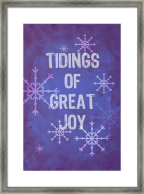 Framed Print featuring the painting Tidings Of Great Joy by Jocelyn Friis