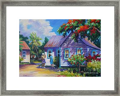 Tidying The Yard Framed Print by John Clark