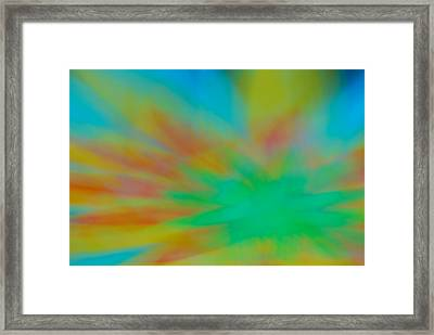 Tie Dye Abstract Framed Print
