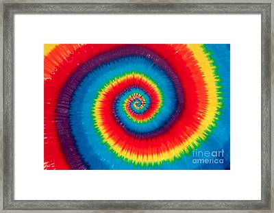 Tie Dye Framed Print