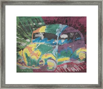 Framed Print featuring the painting Tie-dye Beetle by Thomasina Durkay
