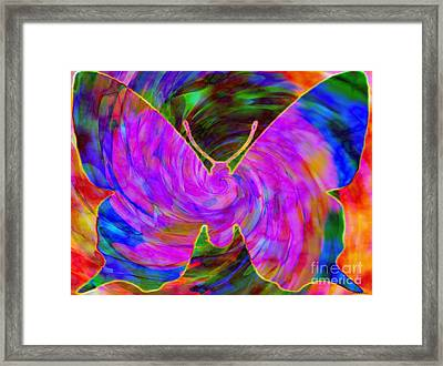 Tie-dye Butterfly Framed Print by Elizabeth McTaggart
