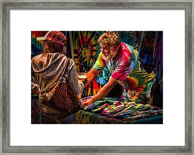 Tie Dye Guy Framed Print