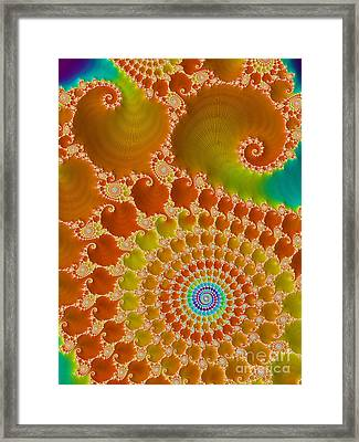 Tie Dye  Framed Print by Heidi Smith