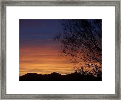 Tie Dye Sky Framed Print by Christine Drake