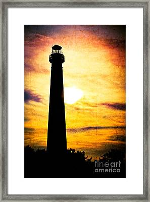 Tie Dye Sky - Lighthouse Framed Print by Colleen Kammerer