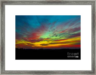 Framed Print featuring the photograph Tie Dyed Sunrise by Geri Glavis