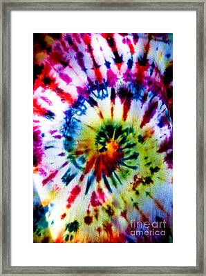 Tie Dyed T-shirt Framed Print by Cheryl Baxter