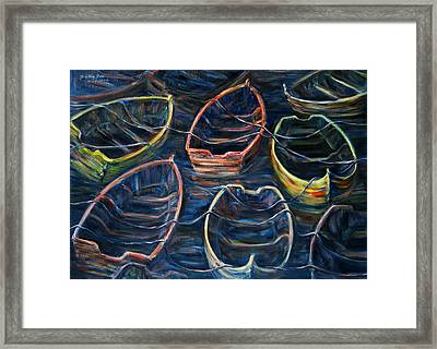 Tie Together In The Wind Framed Print by Xueling Zou