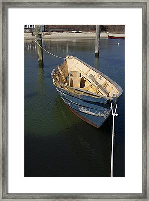 Tied Down From The Storm  Framed Print by Eugene Bergeron