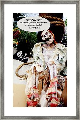 Framed Print featuring the photograph Tied Up Pirate by Gary Brandes