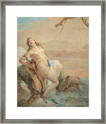Tiepolo Giambattista, Ruggiero Saving Framed Print by Everett
