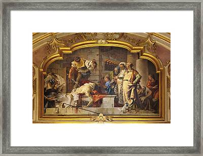 Tiepolo Giambattista, The Beheading Framed Print by Everett