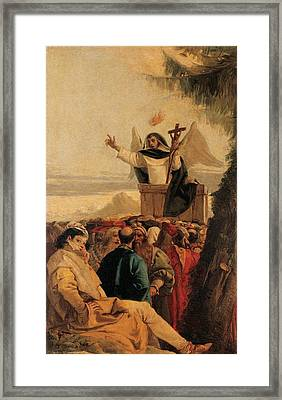 Tiepolo Giandomenico, St Vincent Framed Print by Everett