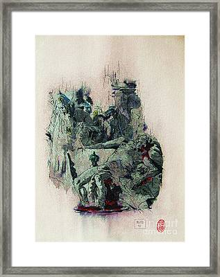 Tiepolos  Death Of Seneca Framed Print by Roberto Prusso