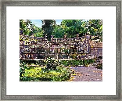Tiered Fountain Framed Print