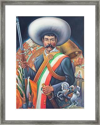 Tierra De Temporal Zapata 2 Framed Print by Arturo Miramontes