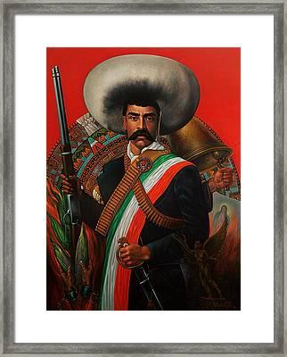 Tierra De Temporal Zapata Framed Print by Arturo Miramontes