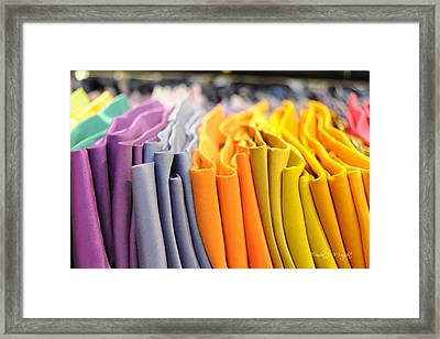 Ties I Framed Print by Paulette B Wright