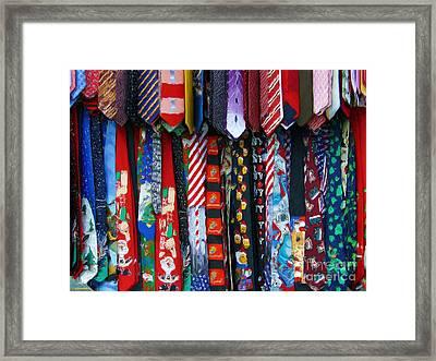 Ties Framed Print by Jeff Breiman