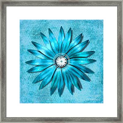 Tiffany Blue And Diamonds Too Framed Print