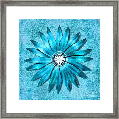 Tiffany Blue And Diamonds Too Framed Print by Saundra Myles