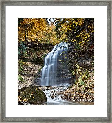 Tiffany Falls Framed Print
