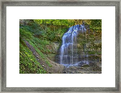 Framed Print featuring the photograph Tiffany Falls In Summer by Gary Hall