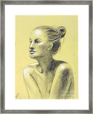 Tiffany Portrait Framed Print