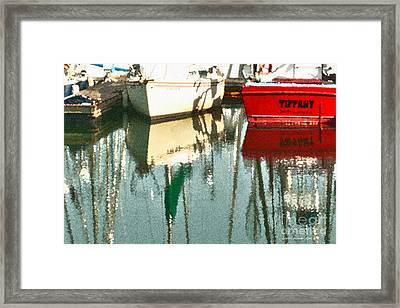 Tiffany Sailed From San Francisco To Moss Landing Framed Print by Artist and Photographer Laura Wrede
