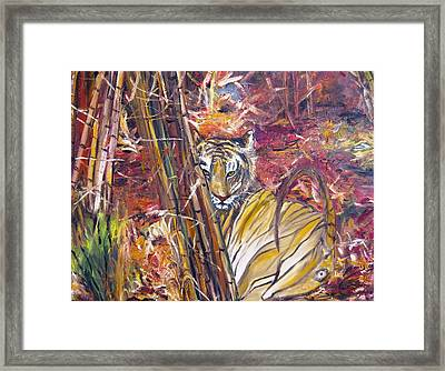 Tiger 1 Framed Print by Doris Cohen