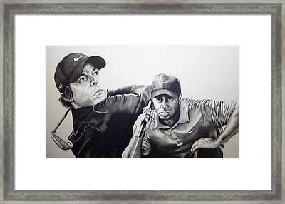 Tiger And Rory Framed Print by Jake Stapleton
