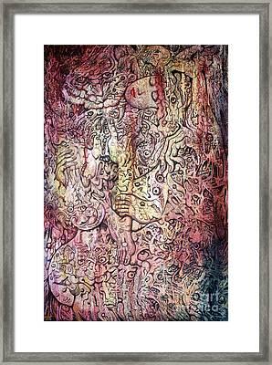 Tiger And Woman Framed Print by Kritsana Tasingh