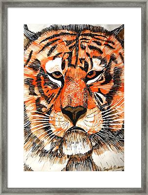 Tiger Framed Print by Angela Murray