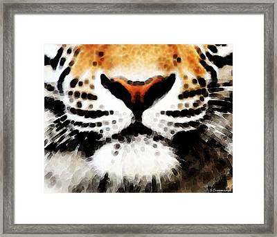 Tiger Art - Burning Bright Framed Print