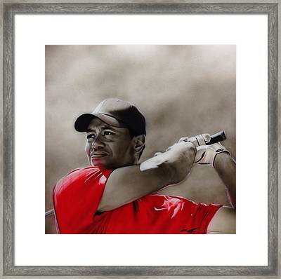 Tiger Woods - ' Tiger ' Framed Print