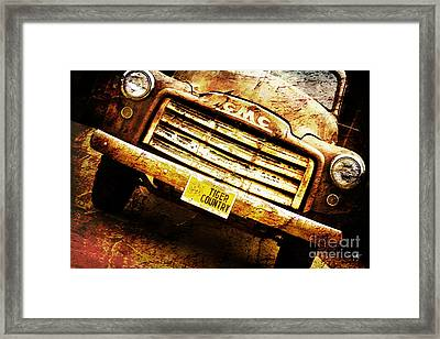 Tiger Country Old School Framed Print by Scott Pellegrin