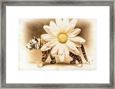 Tiger Dream Framed Print by Jeff  Gettis