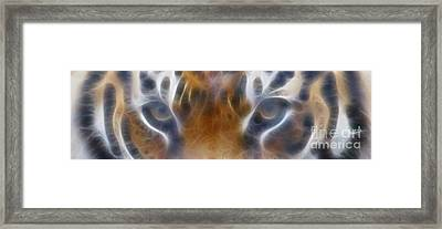 Tiger Eyes-5451-fractal Framed Print by Gary Gingrich Galleries