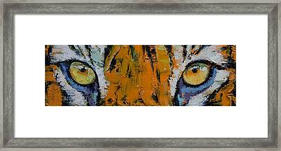 Tiger Eyes Framed Print by Michael Creese